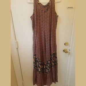 90s does 70s Floral Sundress